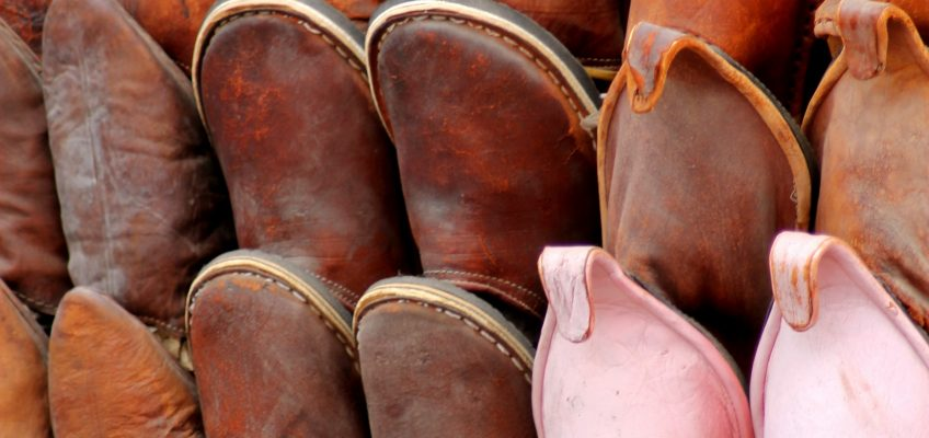 Come and smell the real leather that makes not only these shoes but many other potential bargain gifts.